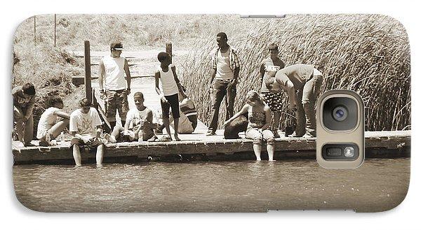 Galaxy Case featuring the photograph Kids At Lake Chabot by Hiroko Sakai