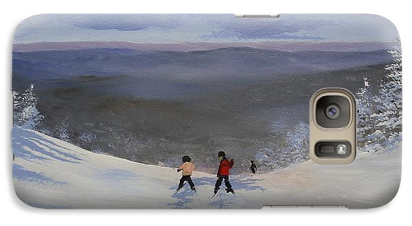 Galaxy Case featuring the painting Kidski by Ken Ahlering