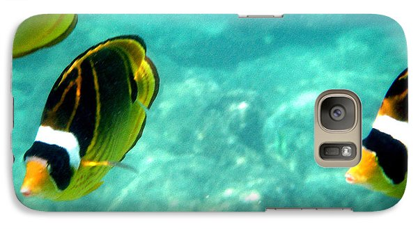Galaxy Case featuring the photograph Kikapapu Fish In Ocean by Karen Nicholson
