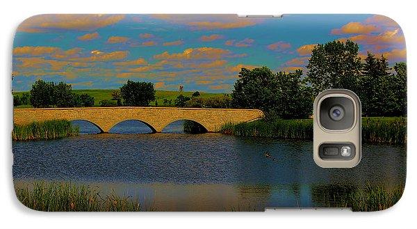 Galaxy Case featuring the photograph Kilkona Park Bridge by Larry Trupp