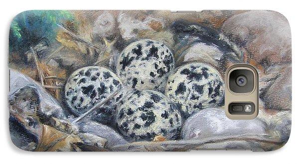 Galaxy Case featuring the drawing Killdeer Nest by Lori Brackett