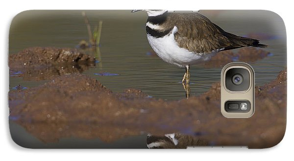 Galaxy Case featuring the photograph Killdeer Reflection by Bryan Keil