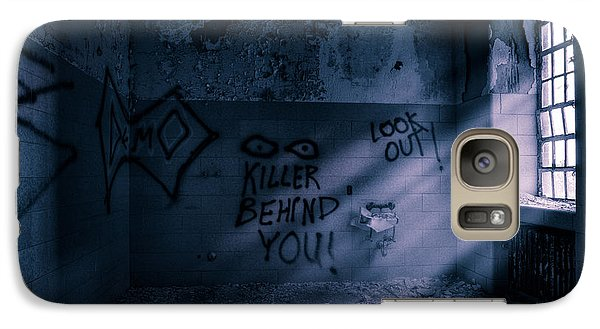 Galaxy Case featuring the photograph Killer Behind You - Abandoned Hospital Asylum by Gary Heller