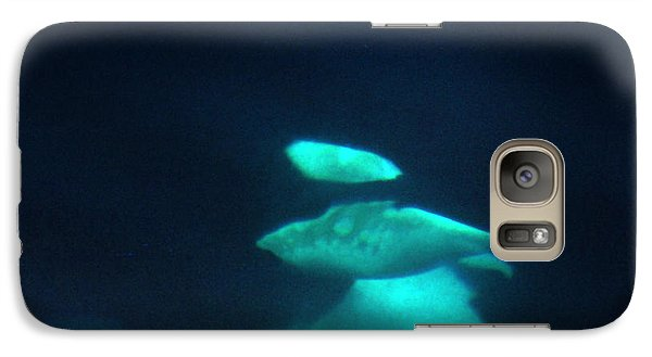 Galaxy Case featuring the photograph Killer Whales Orcas Under Water  Off The San Juan Islands 1986 by California Views Mr Pat Hathaway Archives