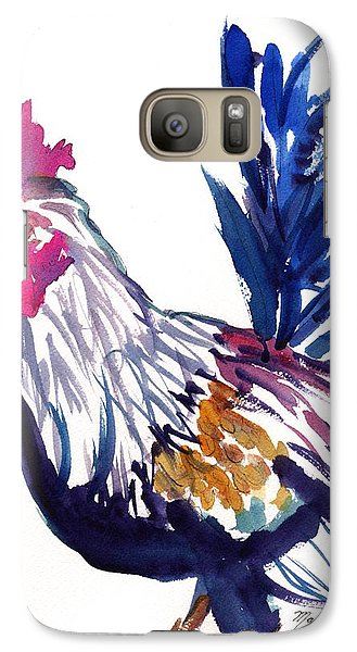 Galaxy Case featuring the painting Kilohana Rooster by Marionette Taboniar