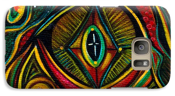 Galaxy Case featuring the painting Kindness Spirit Eye by Deborha Kerr