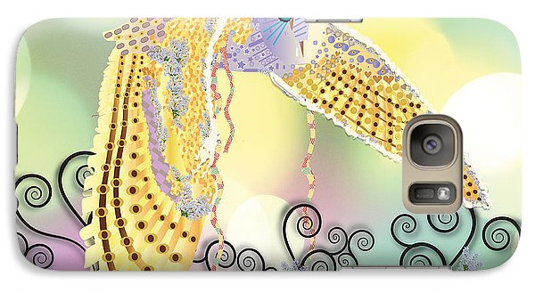 Galaxy Case featuring the digital art Kindred Light Owl by Kim Prowse
