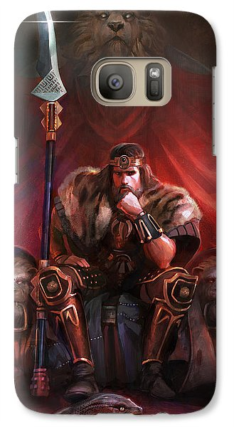 Galaxy Case featuring the digital art King By His Own Hand by Steve Goad