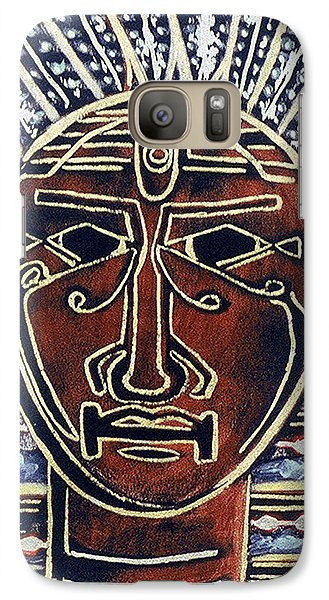 Galaxy Case featuring the painting King by Carolyn Goodridge