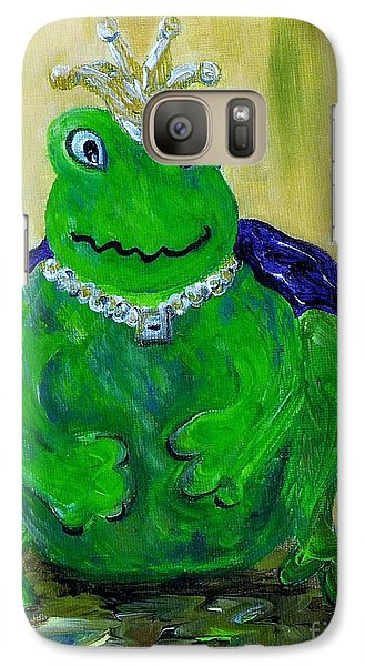 Galaxy Case featuring the painting King For A Day by Eloise Schneider