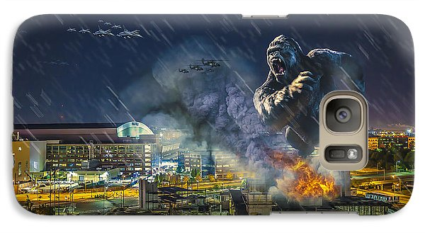 Galaxy Case featuring the photograph King Kong By Ford Field by Nicholas  Grunas