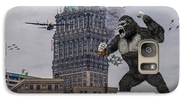 Galaxy Case featuring the photograph King Kong In Detroit At Wurlitzer by Nicholas  Grunas