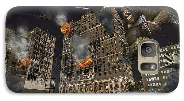 Galaxy Case featuring the photograph King Kong In Detroit Westin Hotel by Nicholas  Grunas