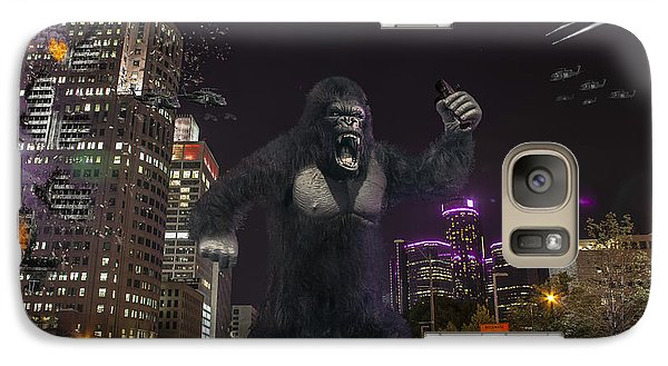 Galaxy Case featuring the photograph King Kong On Jefferson St In Detroit by Nicholas  Grunas
