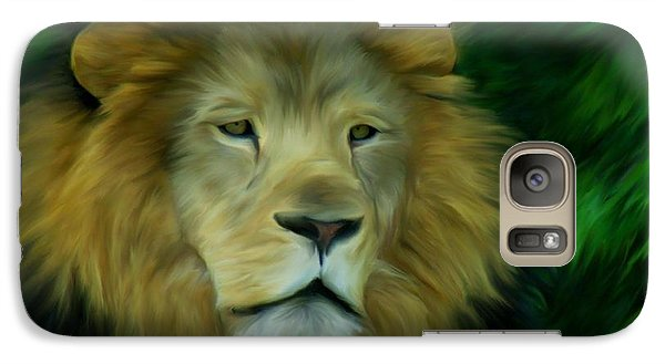 Galaxy Case featuring the painting King by Maria Urso