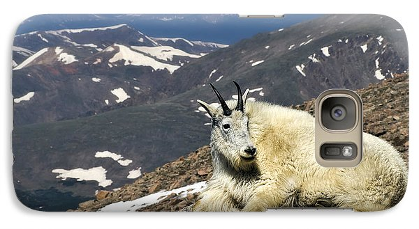 Galaxy Case featuring the photograph King Of Mt. Evans by Priscilla Burgers