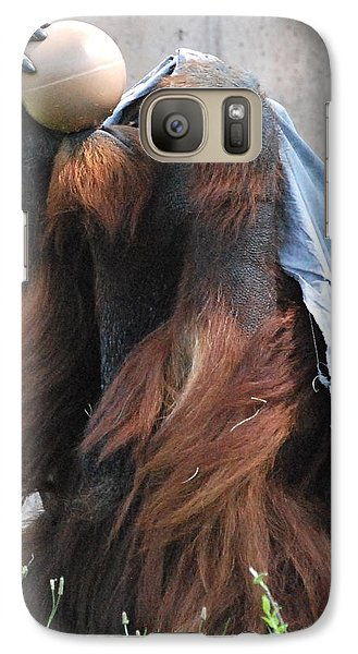 Galaxy Case featuring the photograph King Of The Ball by Kathy Gibbons