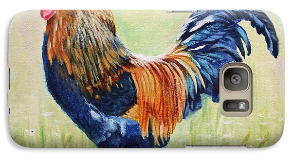 Galaxy Case featuring the painting King Of The Barnyard by Jimmie Bartlett