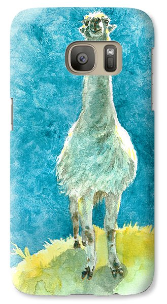 Galaxy Case featuring the painting King Of The Hill by Andrew Gillette