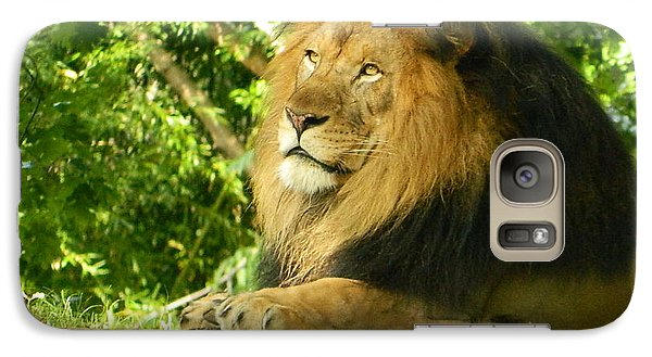 Galaxy Case featuring the photograph King Of The Jungle by Emmy Marie Vickers