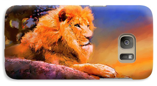 Galaxy Case featuring the painting King Of The Jungle by Ted Azriel