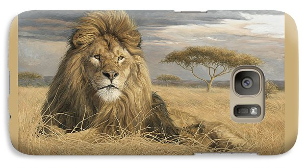 Lion Galaxy S7 Case - King Of The Pride by Lucie Bilodeau