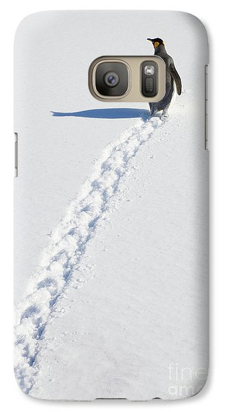 King Penguin And Tracks S Georgia Island Galaxy S7 Case