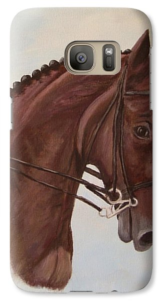 Galaxy Case featuring the painting Kingd'azur by Quwatha Valentine