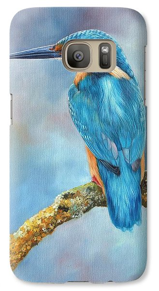 Kingfisher Galaxy S7 Case by David Stribbling