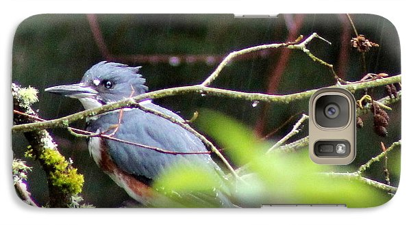 Galaxy Case featuring the photograph Kingfisher In The Rain by Debra Kaye McKrill