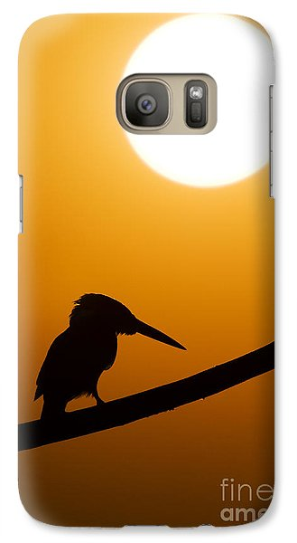 Kingfisher Sunset Silhouette Galaxy S7 Case