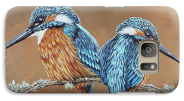 Galaxy Case featuring the painting Kingfishers by Jane Girardot