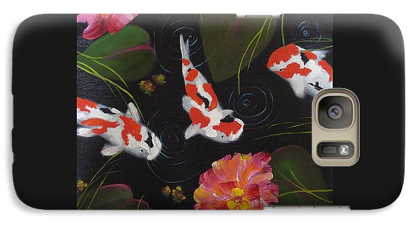 Galaxy Case featuring the painting Kippycash Koi by Judith Rhue