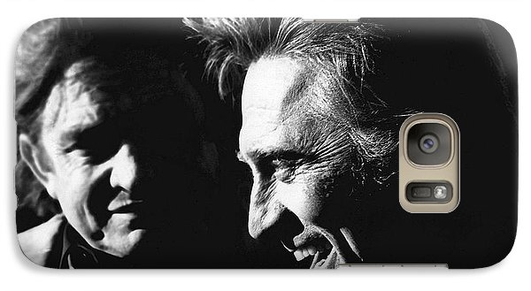 Galaxy Case featuring the photograph Kirk Douglas Laughing Johnny Cash Old Tucson Arizona 1971 by David Lee Guss