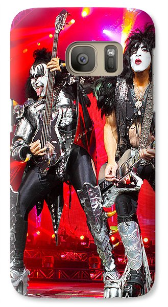 Kiss - 40th Anniversary Tour Live - Simmons And Stanley Galaxy S7 Case by Epic Rights
