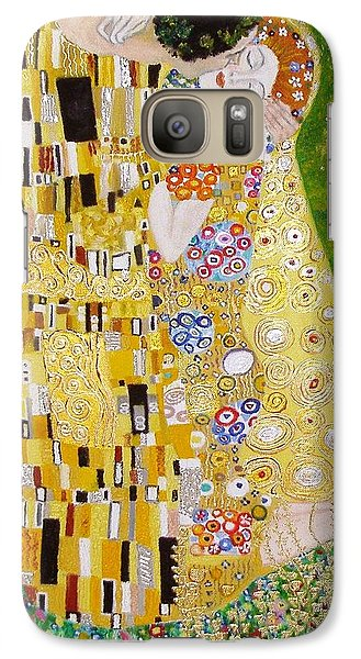Galaxy Case featuring the painting Kiss G.klimt by Nina Mitkova