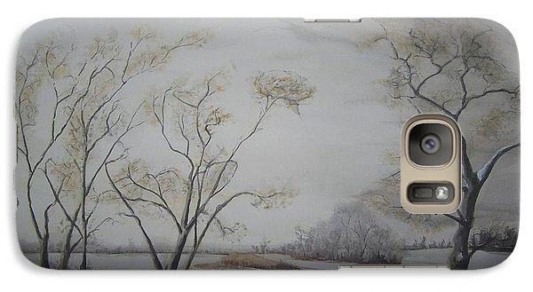 Galaxy Case featuring the painting kiss in the Wind by Peter Suhocke