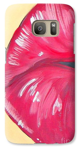 Galaxy Case featuring the painting Kiss  by Marisela Mungia