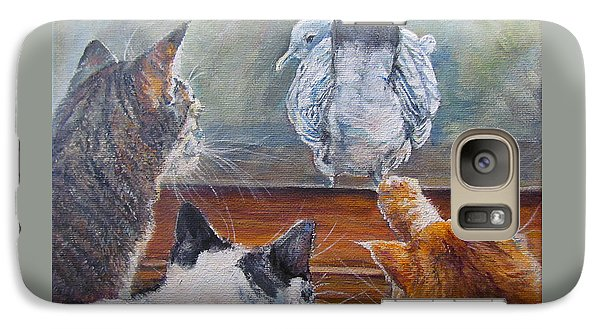 Galaxy Case featuring the painting Kiss My Assssssss by Donna Tucker