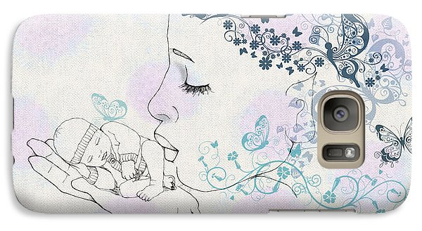 Galaxy Case featuring the digital art Kiss To A New Born by Barbara Orenya