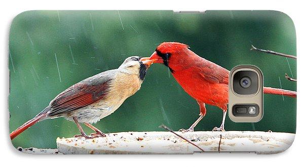 Galaxy Case featuring the photograph Kissing Cardinals by John Freidenberg