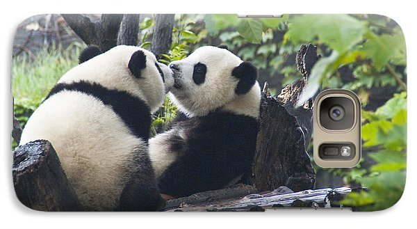 Galaxy Case featuring the photograph Kissing Pandas by Jialin Nie Cox ChinaStock