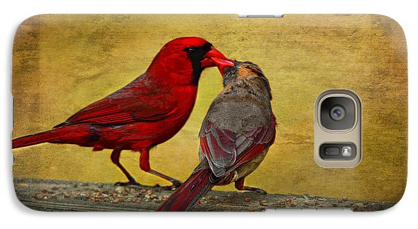 Galaxy Case featuring the photograph Kissy Kissy Birds by Linda Segerson