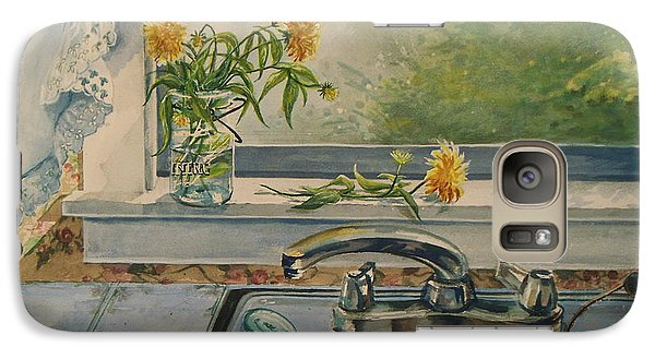 Galaxy Case featuring the painting Kitchen Sink by Joy Nichols