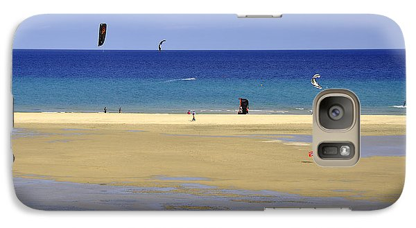 Galaxy Case featuring the photograph Kitesurfing Spot And Beach View At Melia Gorionez  by Julis Simo