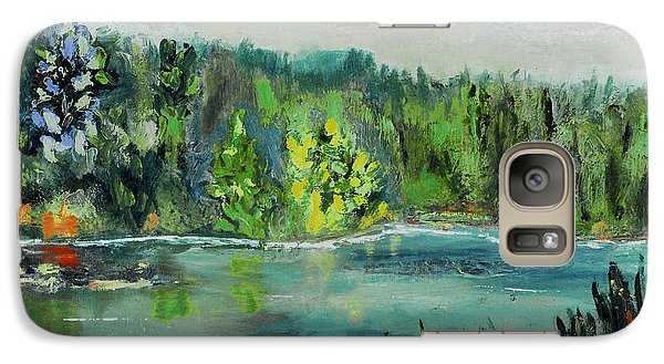 Galaxy Case featuring the painting Kittatiny Pond by Michael Daniels