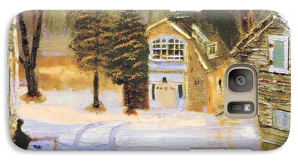 Galaxy Case featuring the painting Kittattiny Park Ranger Residence by Michael Daniels