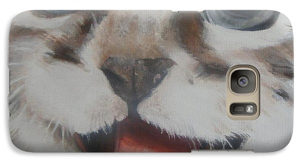 Galaxy Case featuring the painting Kitten by Cherise Foster