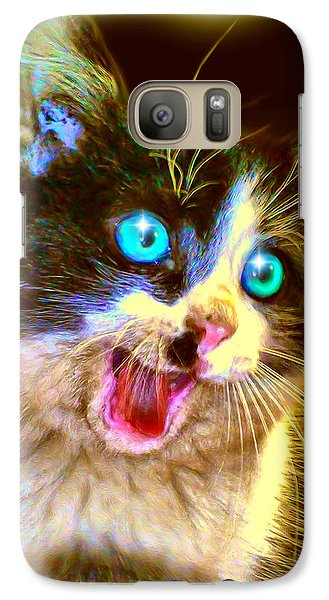 Galaxy Case featuring the painting Kitten by Daniel Janda