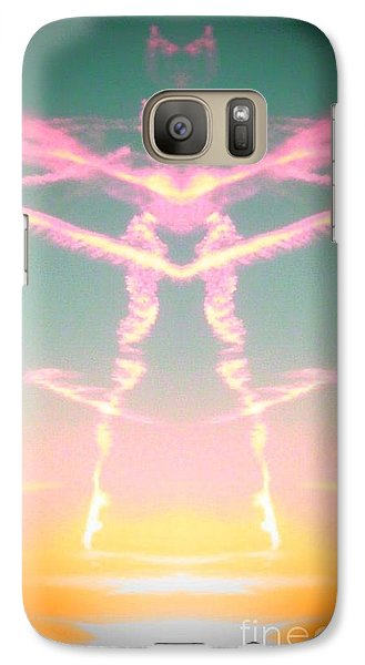 Galaxy Case featuring the photograph Kitty Cat Contrail Ballerina by Karen Newell